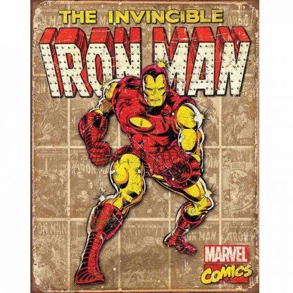 Iron Man Retro Panels Metal Tin Sign