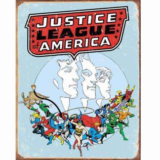 Justice League Retro Metal Tin Sign