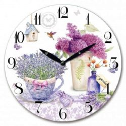Lavender Flower Wall Clock