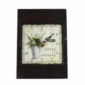 Metal Lavender Table Clock