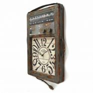 Metal Radio Style Wall Clock
