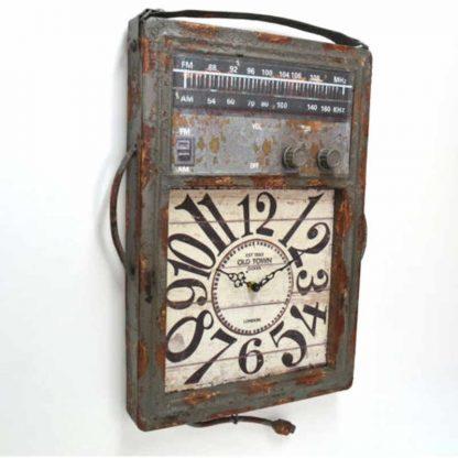 Metal Radio Style Wall Clock
