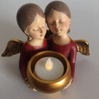 Polyresin Angel Tea Light Holder