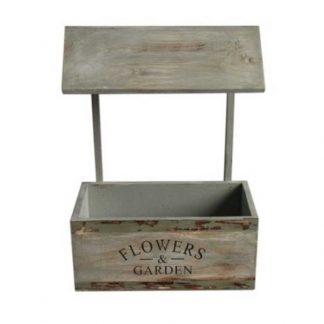Rustic Flowers & Garden Wooden Planter