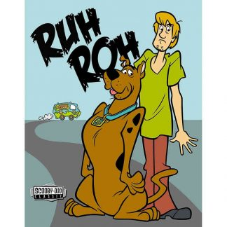 Scooby Doo Ruh Roh Metal Tin Sign
