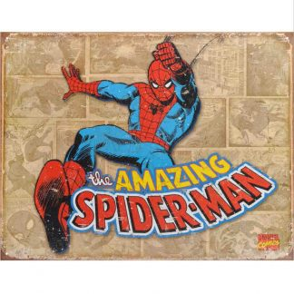 Spiderman Retro Panels Metal Tin Sign