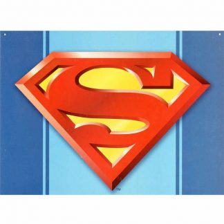 Superman Logo Metal Tin Sign