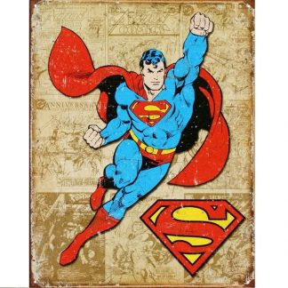 Superman Weathered Panels Metal Tin Sign