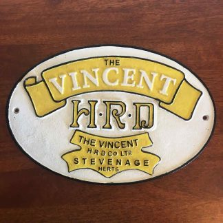 Vincent Motorcycle Bike Cast Iron Sign