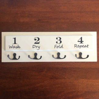 1234 Laundry Wooden hook Rack
