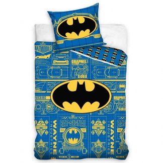 Batman Logo Blue Single Quilt Cover