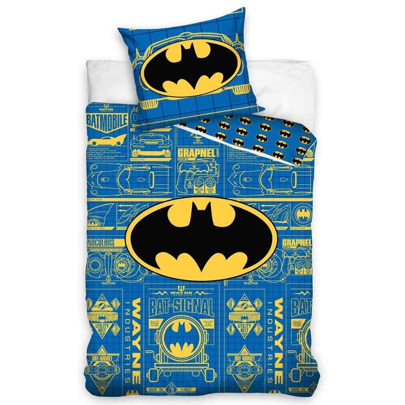 Batman Logo Blue Single Quilt Cover Kids Bedding
