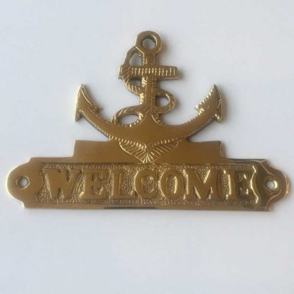 Brass Welcome Sign