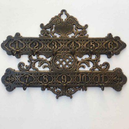 Cast Iron Number Key Rack