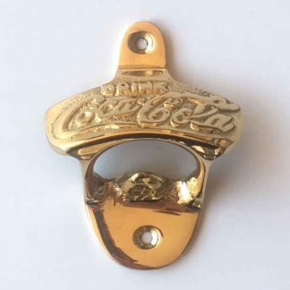 Coke Polished Brass Bottle Opener