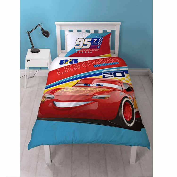 Disney Cars 3 Lightning Mcqueen Single Quilt Kidscollections