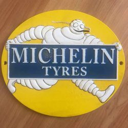 Michelin Man Tyres Cast Iron Sign