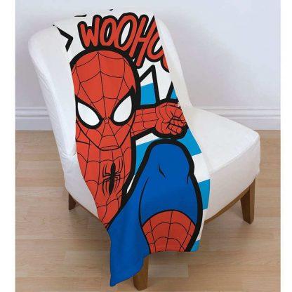 Spiderman Abstract Fleece Blanket