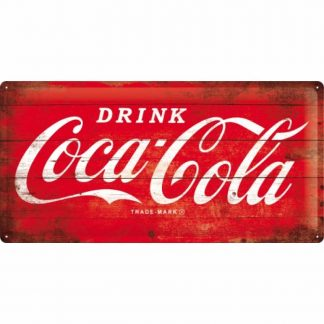 Coke Long Embossed Metal Tin Sign