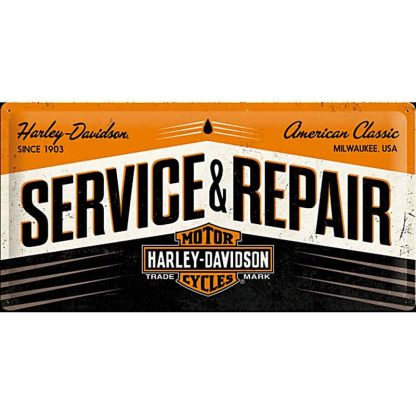 Harley Service & Repair Metal Tin Sign