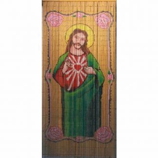 Jesus Bamboo Door Curtain