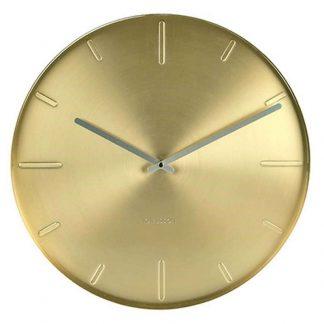 Karlsson Belt Wall Clock 40cm Brass Plated