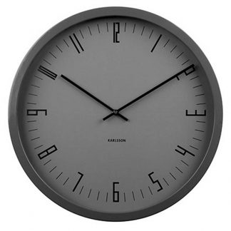 Karlsson Cased Index Wall Clock Steel Black