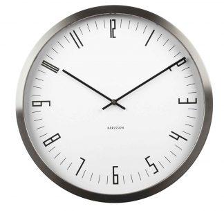 Karlsson Cased Index Wall Clock Steel White