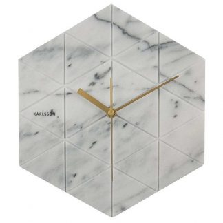 Karlsson Marble Hexagon Wall Clock