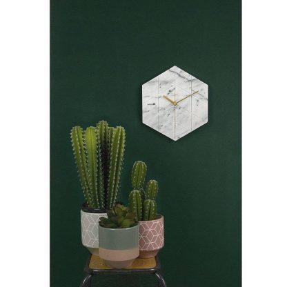 Karlsson Marble Hexagon Wall Clock