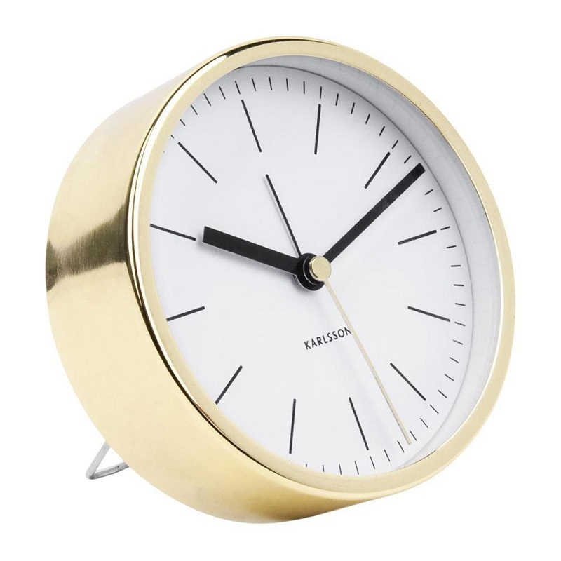 Karlsson Minimal Alarm Clock Copper Plated Silent