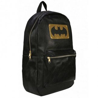 Batman Black Metal Plate Backpack