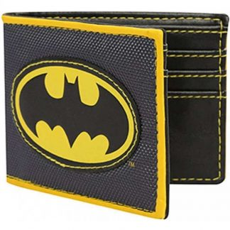 Batman Logo Applique Nylon Bi-fold Wallet