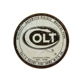 Colt Round Logo Metal Tin Sign