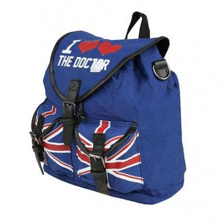 Dr Who I Heart the Doctor Knapsack