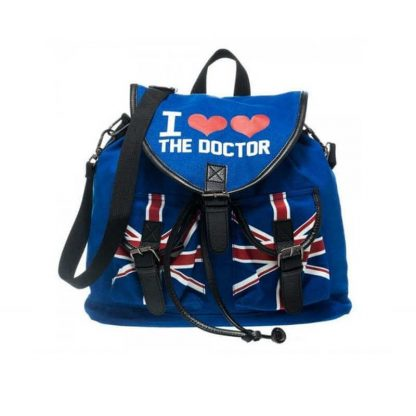 Dr Who I Heart the Doctor Knapsack