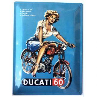 Ducati Embossed Sign
