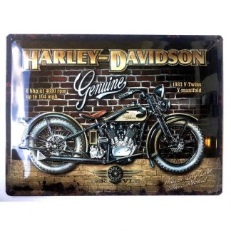 Harley Davidson Brick Wall Sign