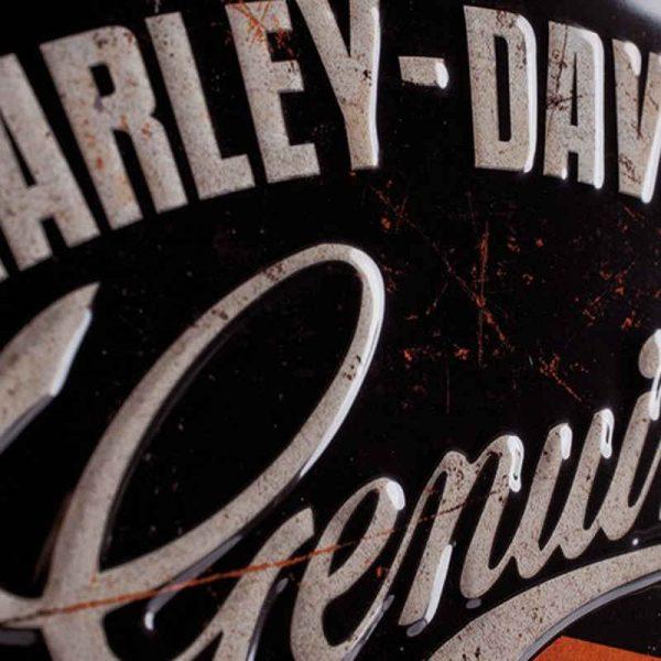 Harley Davidson Garage Embossed Tin Sign