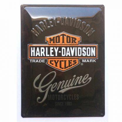 Harley Davidson Genuine Embossed Sign