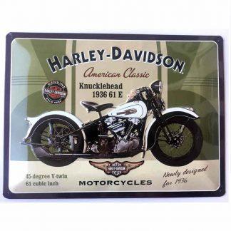 Harley Davidson Knucklehead Sign
