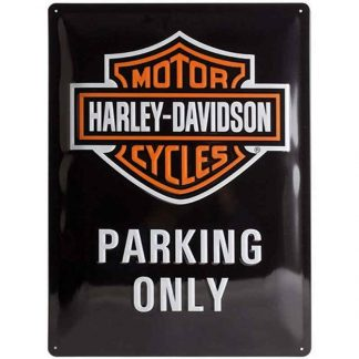 Harley Davidson Parking Only Embossed Sign