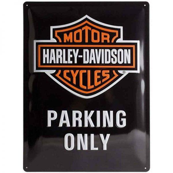 Harley Davidson Parking Only Embossed Sign