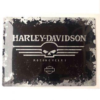 Harley Davidson Skull Embossed Sign