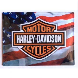 Harley Davidson USA Embossed Sign