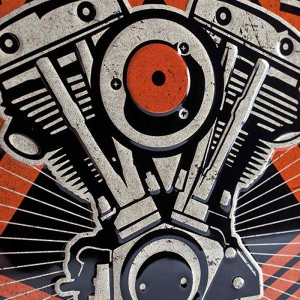 Harley Davidson Wild at Heart Embossed Sign