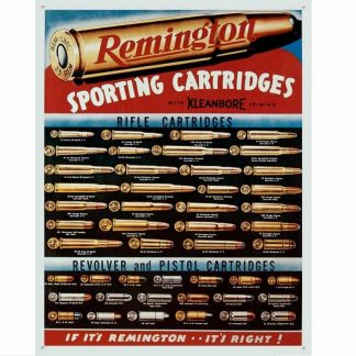 Remington Sporting Cartridges Tin Sign