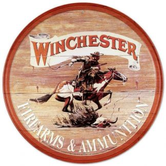 Winchester Express Round Metal Tin Sign