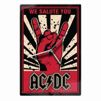 ACDC We Salute You Glass Clock
