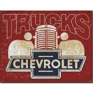 Chevrolet Trucks Tin Sign
